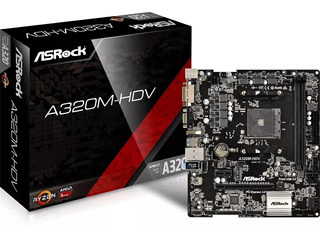 Motherboard Asrock A320m Pro Vh Am4 Ddr4 A320 Hdmi Vga Pc