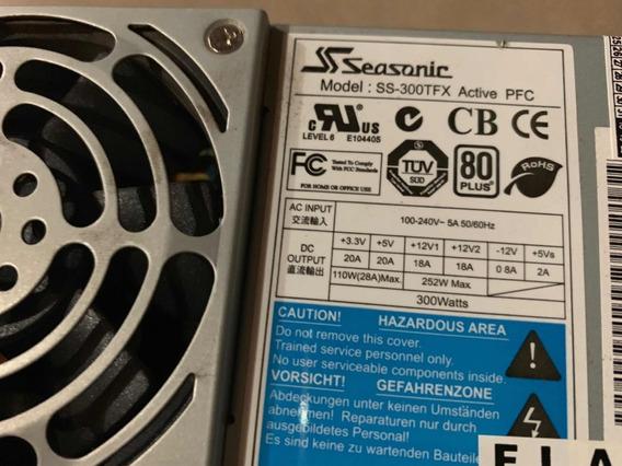Fonte P/ Pc Slim - Seasonic Ss-300tfx - 300watts - Usada