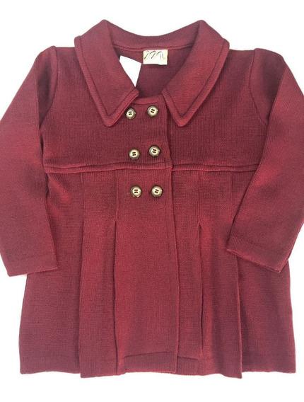 Casaco Cardigan Infantil Lã Grosso Tam 1 2 3