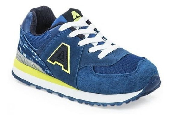 Zapatillas Addnice Running Londres Ii Royal/lima Azules