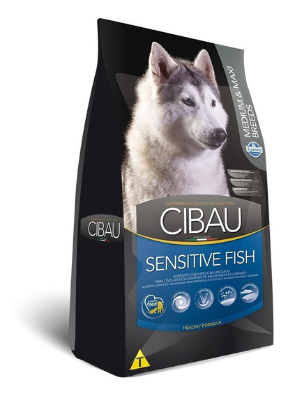 Ração Cibau Medium & Maxi Sensitive Fish Cães Adult. 12kg