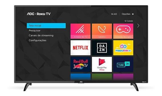 Smart Tv Led 32 Aoc Roku Hd Com Wi-fi Entradas Hdmi E Usb