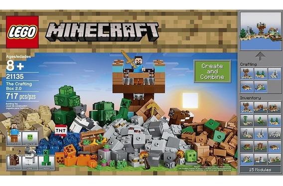 Brinquedo Blocos De Montar Lego Caixa De Minecraft 2.0 21135