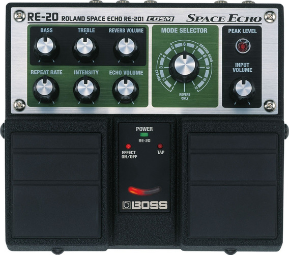 Boss Re-20 Pedal Space Echo Serie Twin Modelaje Análogo