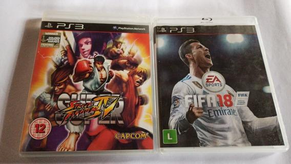 Fifa 18+ Super Street Fighter 4 - Ps3