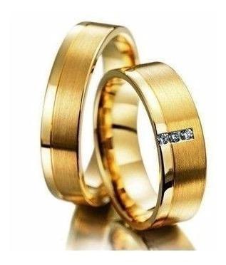 Par De Alianças De Ouro Maciço 10 Gramas 5,5mm