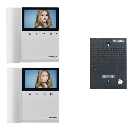 Kit Portero Electrico Visor Commax Cvd 43k 2 Monitores