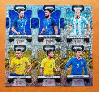 6 Card Prizm Refrator Prata Mojo Diversos Da Copa Mundo 2018