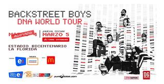 Entrada Vip Top Concierto Backstreet Boys Chile