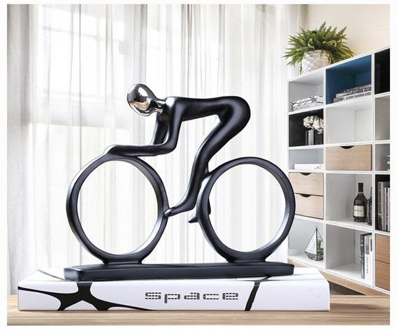 Decoração Estátua Bicicleta Resina