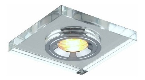 Kit 11 Spot Embutir Quadrado Vidro Cristal P/dicr. Fixo 7013a