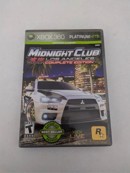 Jogo Midnight Club Los Angeles Mídia Física Xbox 360
