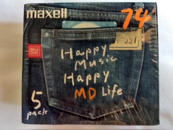 Lote Com 10 Mini Discs Maxell Regravaveis, Novos E Lacrados