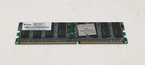 Memoria Ddr Elixir 256mb Pc-3200 400mhz Cl-3