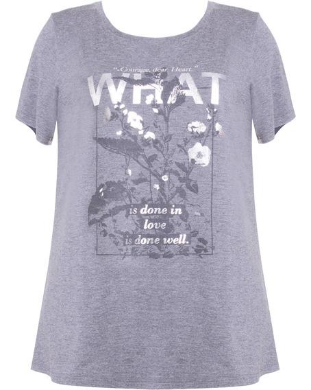 Camiseta Feminina Manga Curta Com Estampa Em Viscose Seiki 6