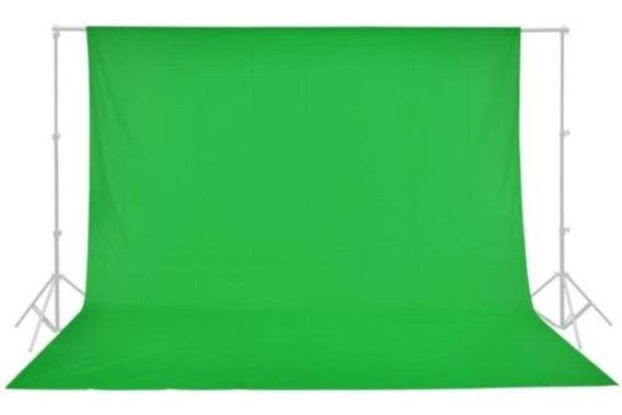 Tecido Para Fundo Infinito Muslin Verde Croma Key 3x5m