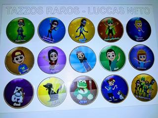Tazos Raro Luccas Neto + Brinde- Originais Coleção Completa