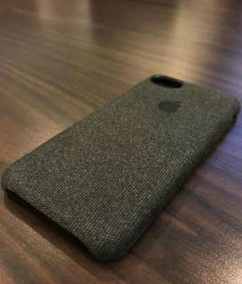 Kit C/2 Case De Tecido iPhone 5/6/6p/7/7p/8/8p/x/xs/xr/xsmax