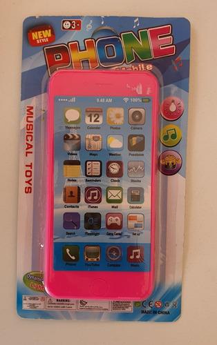 Telefono Celular Infantil Con Luces Y Sonidos Musical 1 Unid