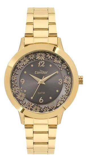 Relógio Condor Feminino Co2039bf/4f Dourado Analogico