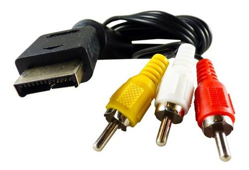 Imagen 1 de 6 de Cable 3 Rca Ps2 + Cable Hdmi 3 Mts + Cable Cargador Joystick
