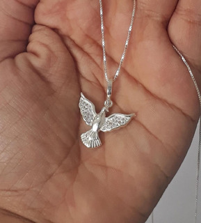 Colar Corrente Feminino Em Prata 925 Espírito Santo Promoção