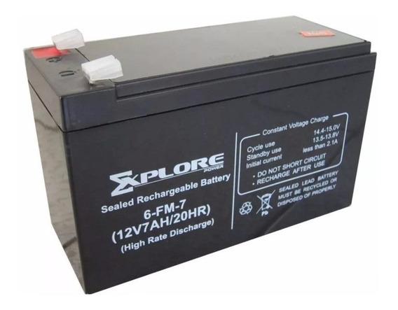 Bateria 12v 7ah Para Ups Pila 7a Cerco Electrico Para Moto