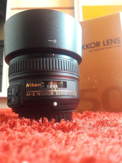 Lente 50mm 1.8 - Nikkor Lens (nikon) Autofoco Af - S