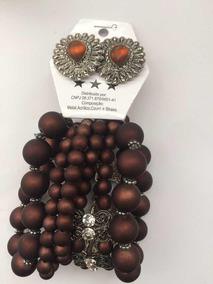 Conjunto De Brinco+pulseiras Elegantes Promoção 3 Conjuntos