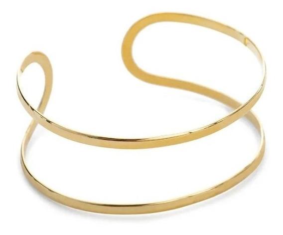 Pulseira Bracelete Ajustável Ouro Amarelo 18k