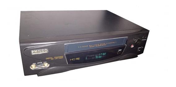 Vídeo Cassete Philco Pvc 4h10 4 Cabeças Mono Funcionando