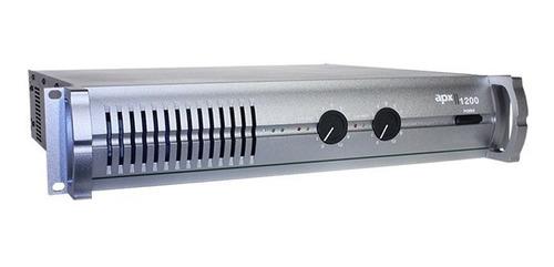 Amplificador De Potencia Profesional Modelo Apx 1200 Original Tecshow Pro 640w. + 640w. Reales En 4 Ohms De 2 Canales