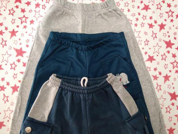 Lote De 3 Pantalones De Algodón Para Nene, Talles 4, Oferta