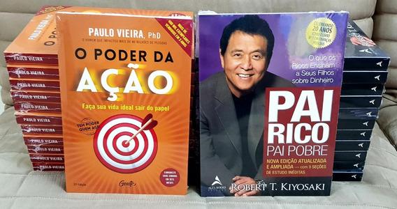 Livros Pai Rico Pai Pobre 20 Anos + Poder Da Ação Kit *novos