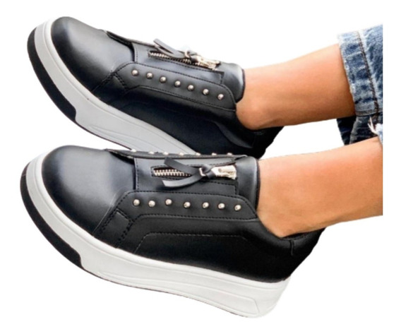 Zapato Zapatillas Mujer Sneaker Urbana Plataforma Moda Dama