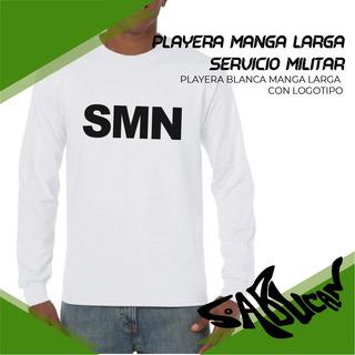 Playera Manga Larga Blanca Para Servicio Militar