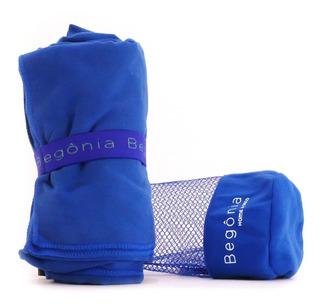 Toalla De Microfibra - Begônia - 80cm X 130cm Azul