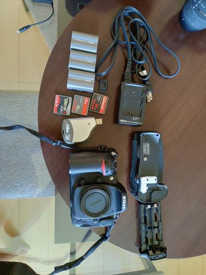 Camera Nikon D300s Novissima - 8071 Clicks - Impecável+itens