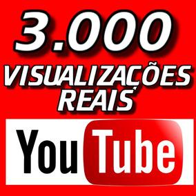 Marketing Youtube! 3.000 Vi-su-al-iz-acões! Reais! Agora
