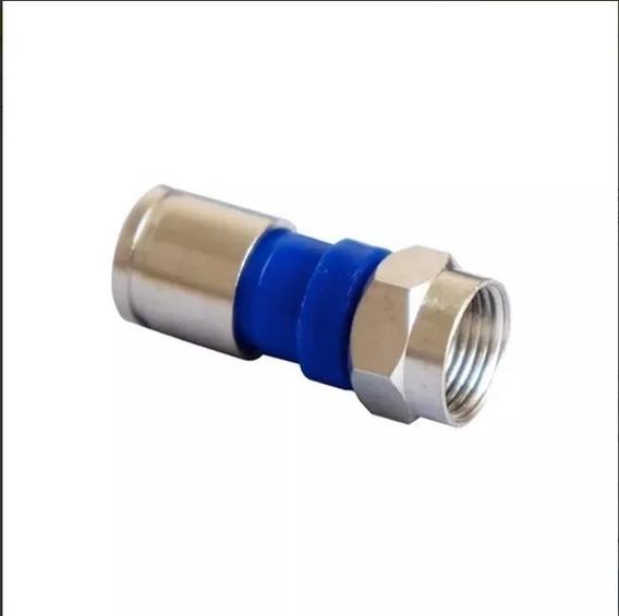 100 Conector Rg6 De Compressão Profissional Pressão