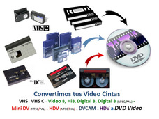 Conversión De Vhs Vhs C Hi8 Video 8 Dv Mini Dv A Dvd