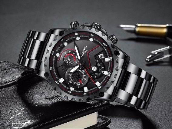 Relógio Masculino Nibosi Black