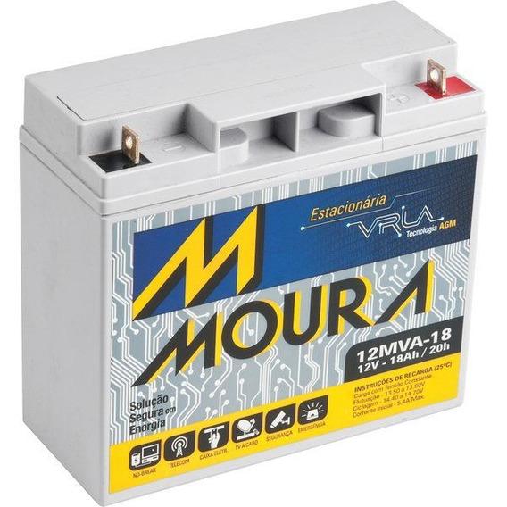 Bateria 12v 18ah Moura Power Sinus Ii 2400va Da Sms