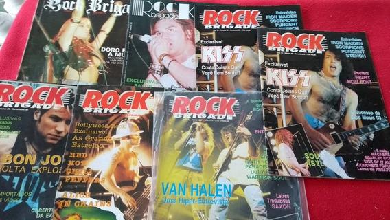 Rock Brigade Anos 08, 10,11, 12 Lote Com 7 Revistas Oferta