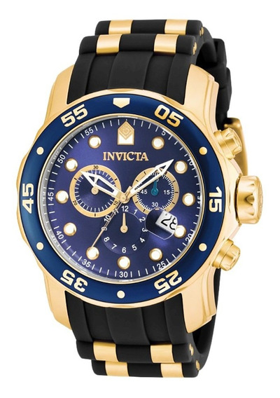 Relogio Invicta Pro Diver 17882 Ouro 18k, 200 Mtrs