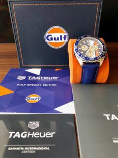 Tag Heuer Fórmula 1 Edición Especial Gulf Caz101n Nuevo!