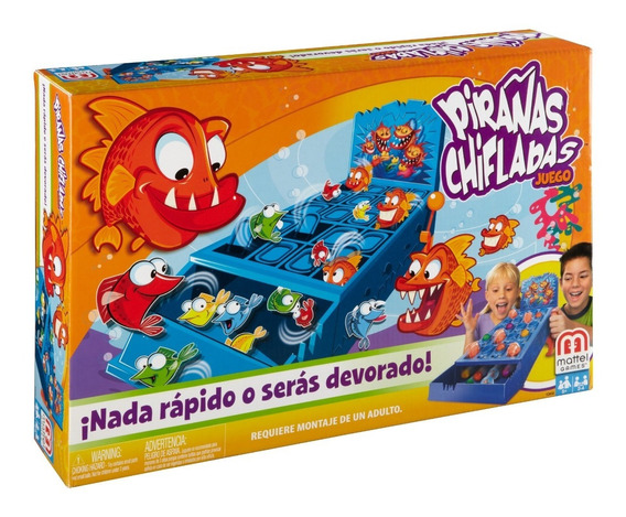 Mattel Games, Pirañas Chifladas, Juego De Mesa