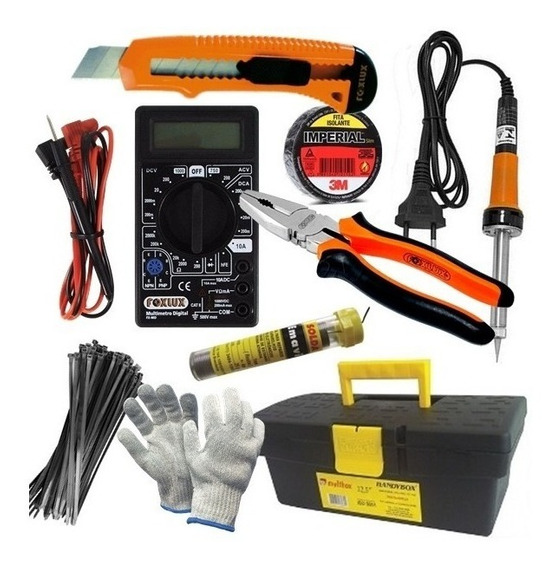 Kit Box Ferramentas Eletricista Spot 10 Itens + Brinde