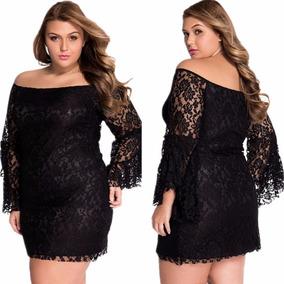 Vestido Ciganinha De Renda Plus Size