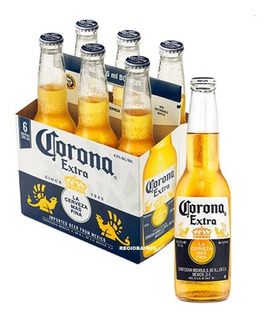 Cerveza Corona Porron Botella Vidrio 330 Ml X 6 Unidades